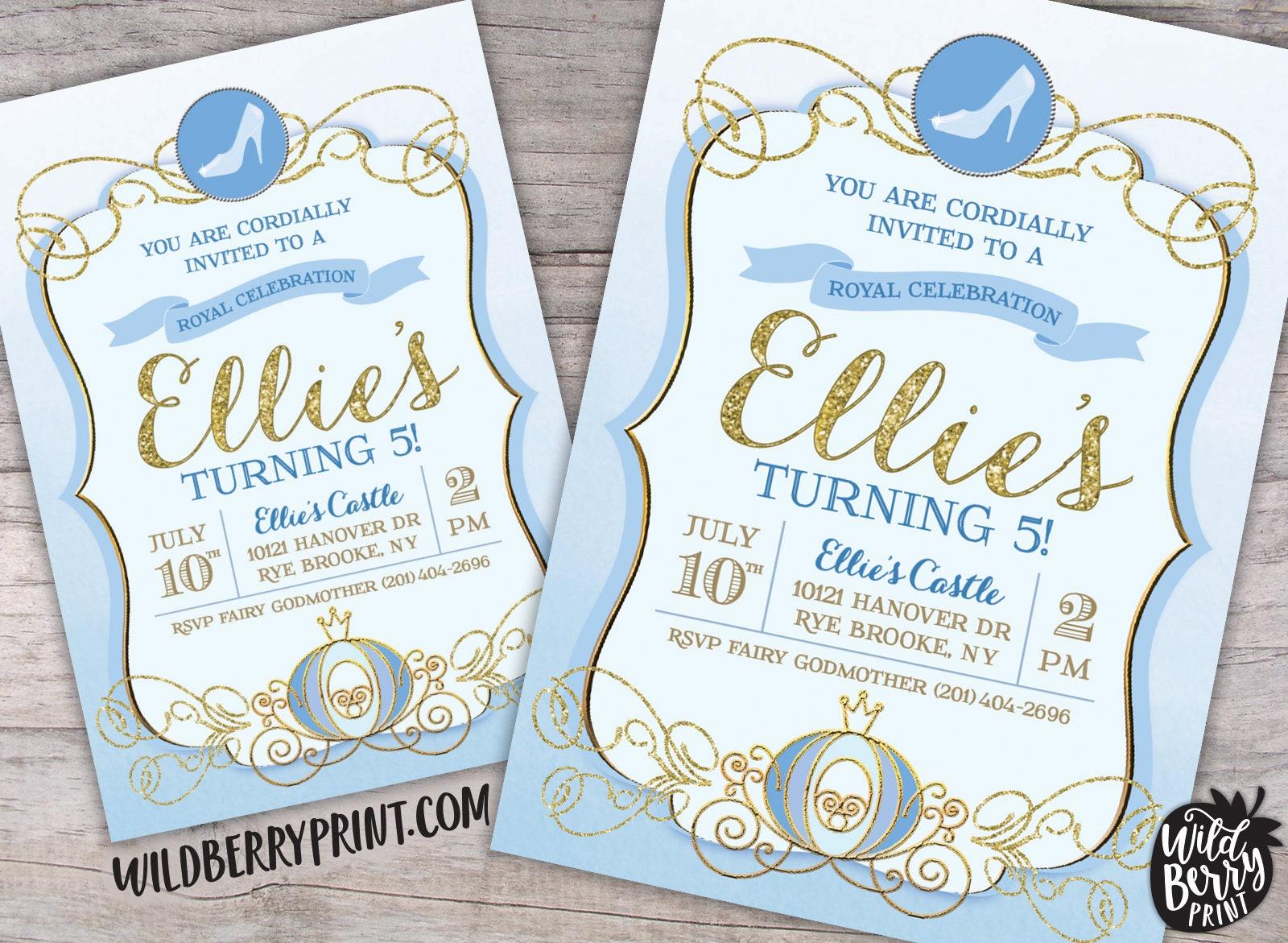 Cinderella Royal Ball Birthday Party Invitation with Free | Etsy