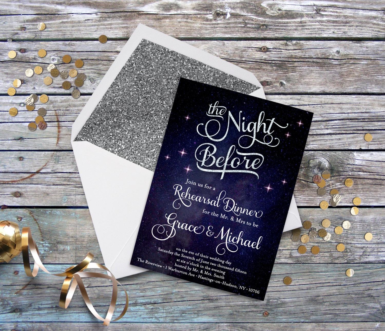 Pre Wedding Dinner Invitation: The Night Before Wedding Rehearsal Dinner Invitation With