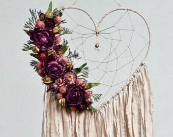 Heart Dream Catcher | Blush Pink