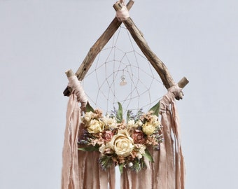 Driftwood Dream Catcher | Blush