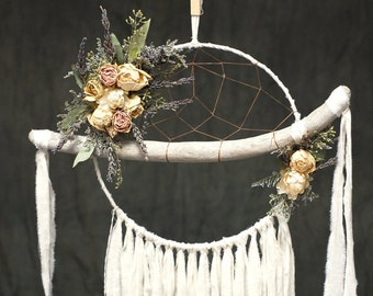 Ivory Driftwood Dream Catcher