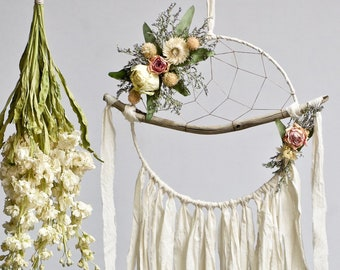 Driftwood Dream Catcher | Ivory