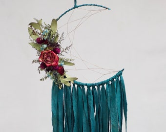 Moon Dream Catcher | Deep Teal