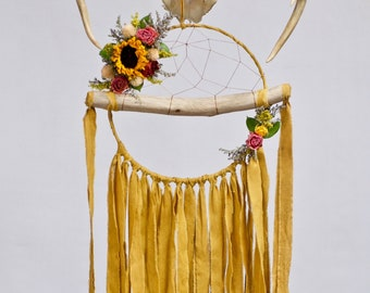 Driftwood Dream Catcher | Mustard