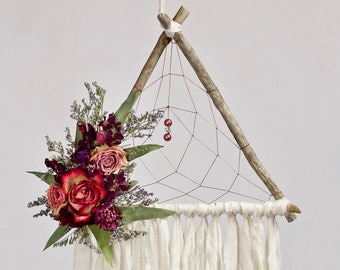 Triangle Dream Catcher | Ivory