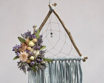 Triangle Dream Catcher | Baby Blue