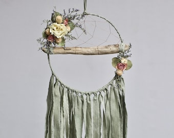 Driftwood Dream Catcher | Sage Green
