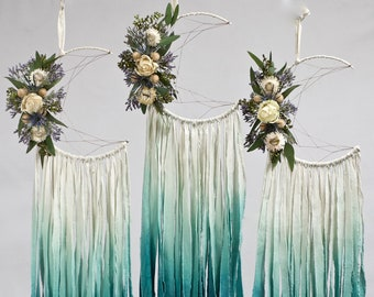 Moon Dream Catcher | Teal Ombre