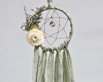 Mini Moon Dream Catcher | Sage Green