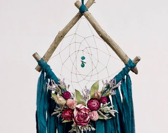 Driftwood Dream Catcher | Deep Teal
