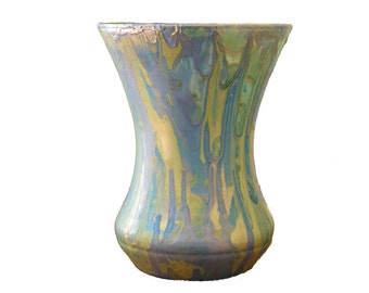 Handpainted Marbled Vase • Decor Object
