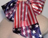 Scarf Art Pre-tied, Button and Go Fishtail Chic Neckerchief - Patriotic