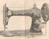 PDF Singer 1891 Fiddle Base Vibrating Shuttle VS Sewing Machine Manual for Treadle Hand Crank Instant Download Digital Downloadable
