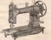 PDF White Treadle Sewing Machine Manual Instant Download Downloadable Vintage Printable Hand Crank Illustrations Illustrated Instruction