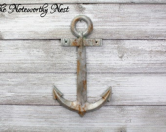 LARGE Rusted Anchor Wall Decor / Bathroom Decor / Nautical Decor / Boys  Bedroom / Sailor Decor / Beach Decor / Boat Anchor / Rustic Anchor