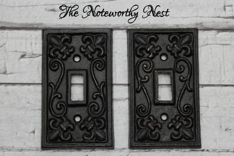 Black Cast Iron Switch Plates Light Switch Covers Etsy