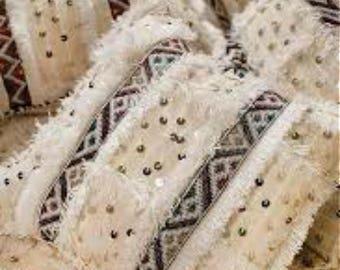 Taie d'oreiller de Handira marocaine – 100 % laine 19 po X 22 po.