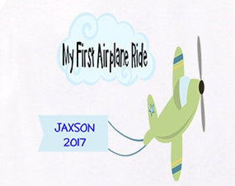 First Airplane Ride shirt baby bodysuit Personalized gift Vacation shirts