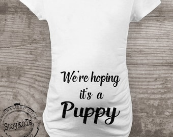 1e35e68d0ec37 Maternity shirt for dog lovers, funny novelty message tees,