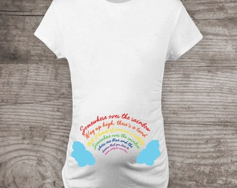rainbow baby maternity shirt etsy