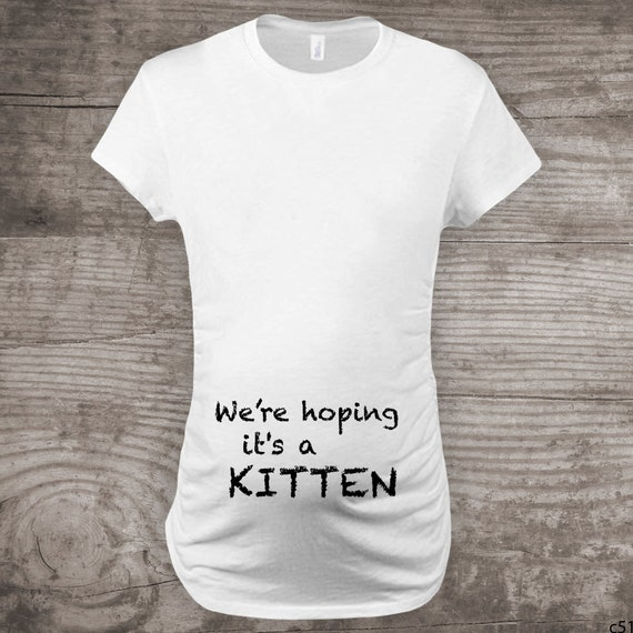 e98d18750 Maternity shirt for cat lovers, funny novelty message tees,