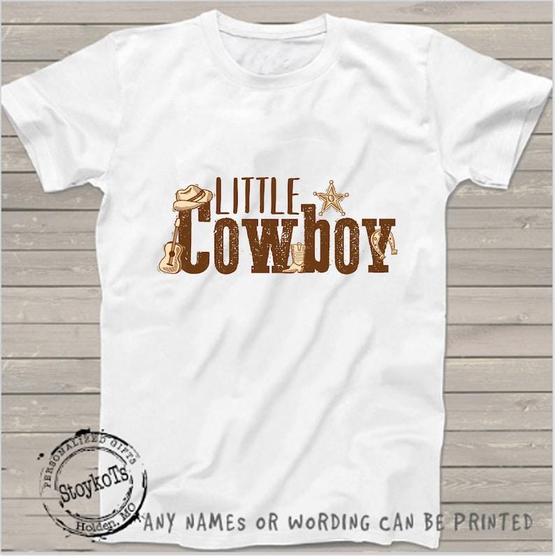 Little Cowboy Birthday Shirt For Kids Country Western Farm
