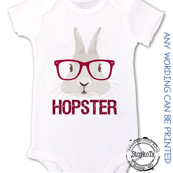 6ae6372cd684d Hip Bunny Easter shirts for babies Funny Hopster bunny rabbit Personalized  baby bodysuit onesie gift for new baby pregnancy announcement
