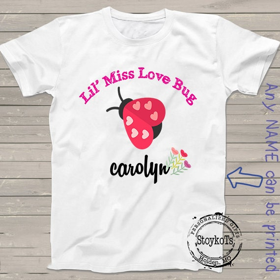 Valentines Day Shirts Heart Tshirt For Kids For Girls Personalized