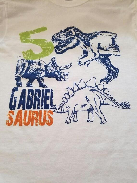 Dinosaur Birthday Party Shirt 2nd Bday 3rd 4th 5th 6th 7th 8th 9th Boys Girls Dino T Rex Theme Shirts For Kids