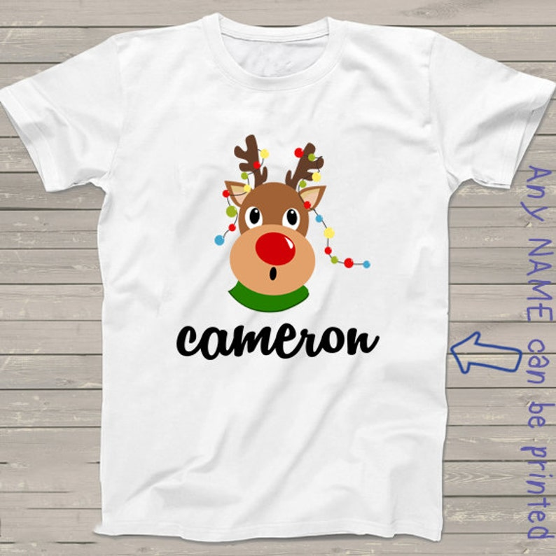 b6169bd78 Christmas shirt for kids funny Rudolph red nosed reindeer