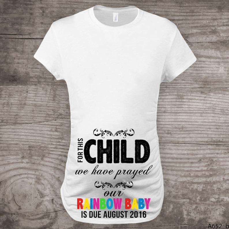 Rainbow maternity shirt