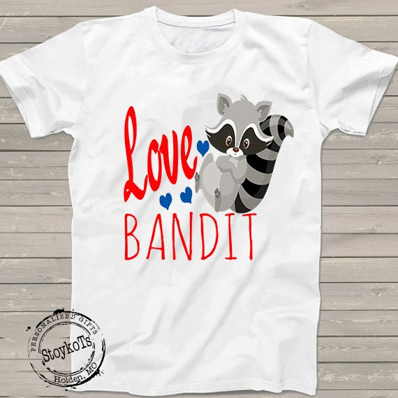 Valentines Day Heart Shirts For Kids Love Bandit Tshirt Gift