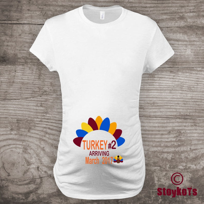 866371968f Thanksgiving Maternity shirt Pregnancy Announcement Shirt