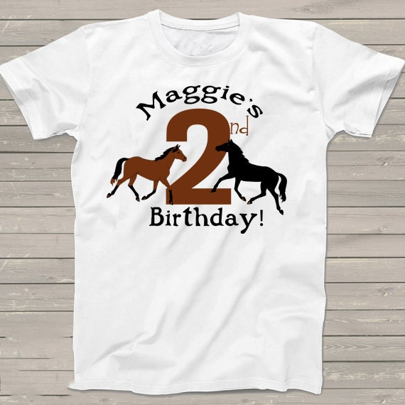 2nd Birthday Shirt Horse Themed Farm T For Kids Boys Personalized Girls Youth Clothing Tops Tees Gift Her A201