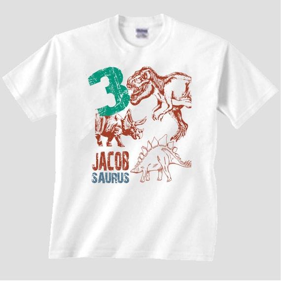 Dinosaur Birthday Party Shirt Third Shirts Boys Matching Family Set T Dino Tshirt 1 2 4 5 6 7 8 9th One Of A Kind