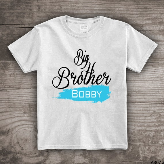 Personalized Big Brother T Shirt For Kids Youth Clothing Tops Tees Little Baby Birthday Gift Him A307 A