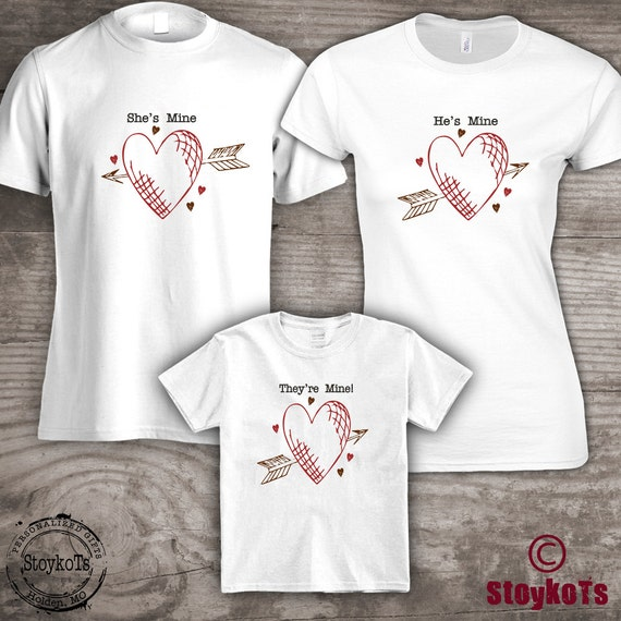 Family Tshirts Valentines Day Coordinating Matching Set Etsy