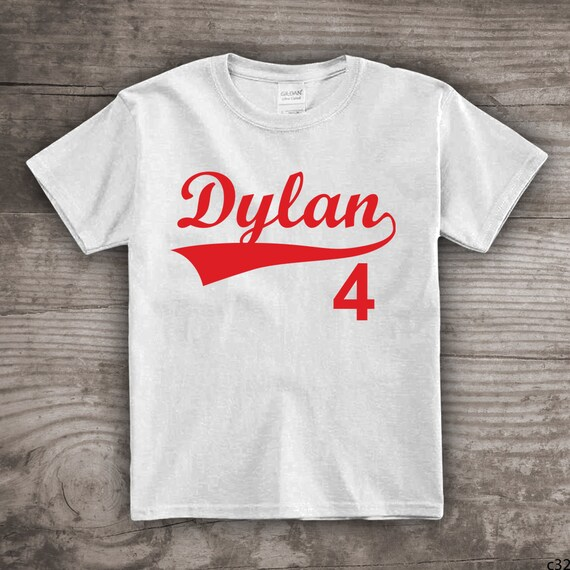 5b49b8df8 Personalized Baseball t-shirt for kids Sports birthday themed kids tops & tees  t-shirts kids youth Daddy and Me clothing sets a32