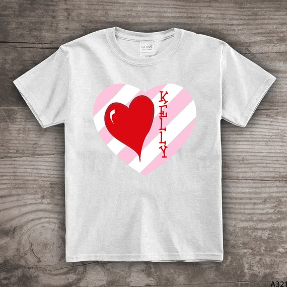 Personalized Valentines Day Kids T Shirts Gift For Her Shirts
