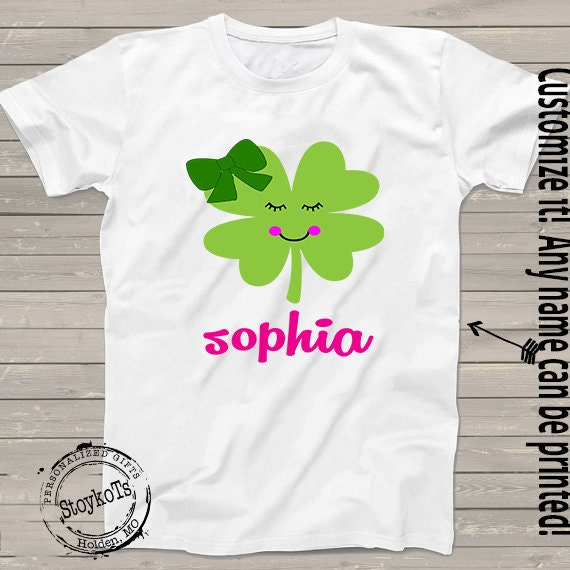 e1942b4cd St. Patricks Day shirts for girls pink and green shamrock Personalized name  tshirt for babies, kids, mommy and me matching family shirt sets