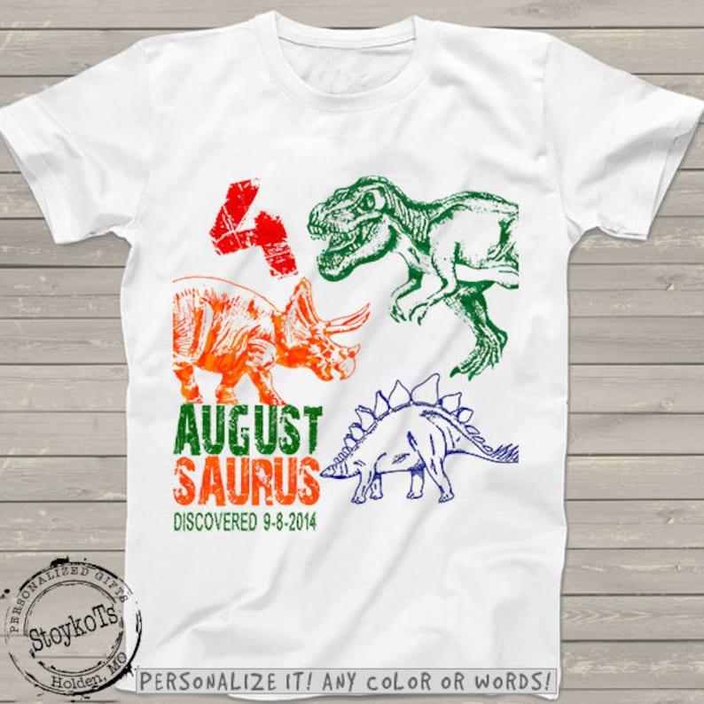 Dinosaur Birthday Shirt For Kids Personalized Dino Shirts