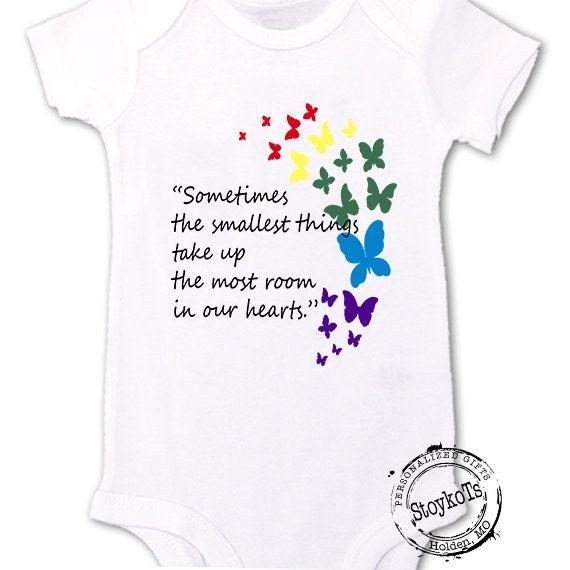 645a3b60ee0b4 Rainbow Baby Pregnancy Announcement shirt bodysuit butterflies