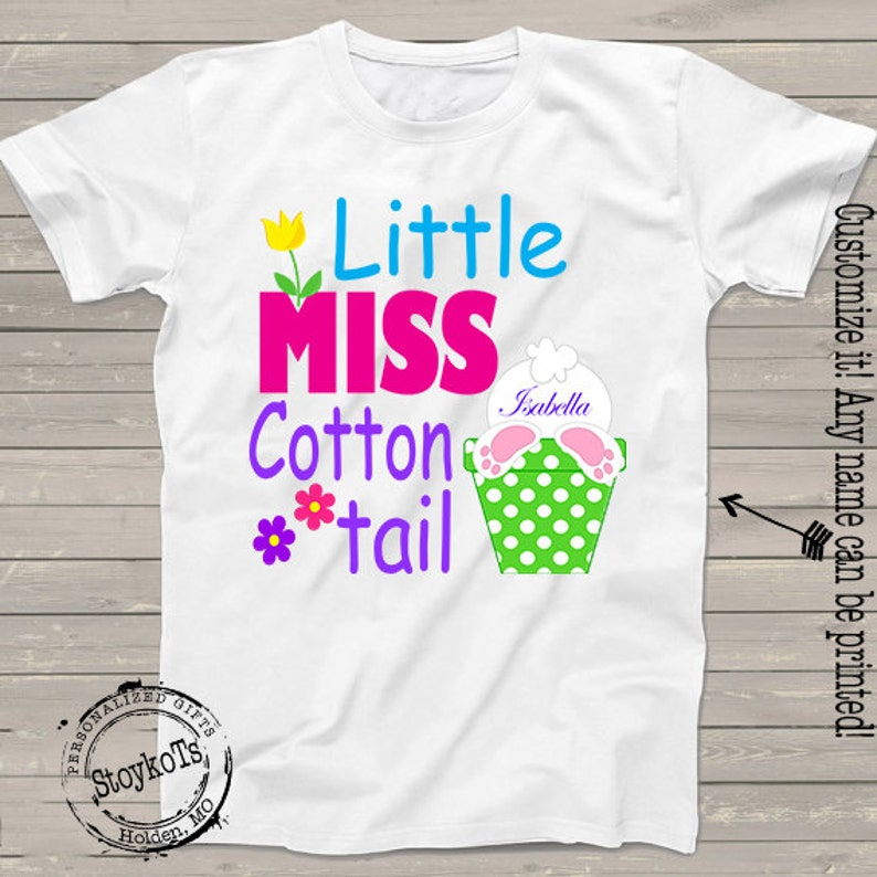 02463414f741d Easter bunny shirts for girls Personalized name Little | Etsy