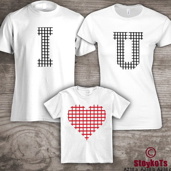 Personalized Valentines Day Family T Shirts Mom Dad Little Etsy