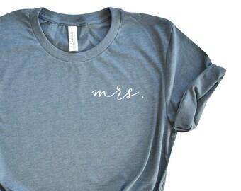 Mrs. Shirt - Bride Shirt - Bride to Be Shirt - Wifey Shirt - Bachelorette  Party Shirts - Bride Gift - Gift for Bride - Honeymoon Shirts bddaf8f26ada