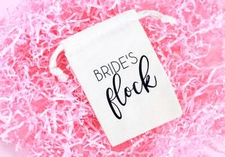 Bride's Flock Hangover Kit - Bachelorette Party Favor Bag - Flamingle Favor Bag - Flamingo Hangover Kit - Bride's Flock - Let's Flamingle