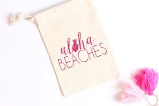 Aloha Beaches Bachelorette Party Favor - Hangover Favor - Bachelorette Favor Bag - Beachlorette - Hangover Kit - Pineapple Bachelorette