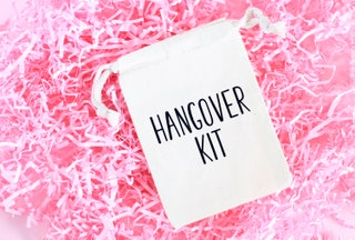 Hangover Kit - Hangover Bachelorette Party Favor - Bachelorette Party - Muslin Bag - Hangover Pouch - Bachelorette Hangover Kit - No Regrets