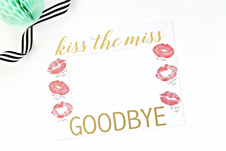 Miss Abschiedskuss Bild Rahmen Matte Bachelorette Party | Etsy