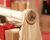 Six-Pack-O-Kubb (cedar): a lawn game of skill, strategy and good times!